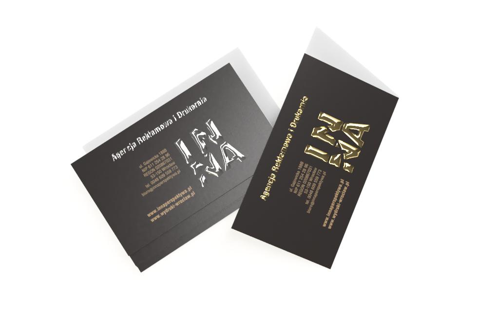 Wizytówki z folią soft – złocone lub srebrzone z efektem 3D