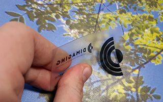 Wizytówki przezroczyste PVC 0.5mm